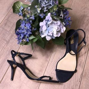 Michael Kors blue strappy leather heels size 9